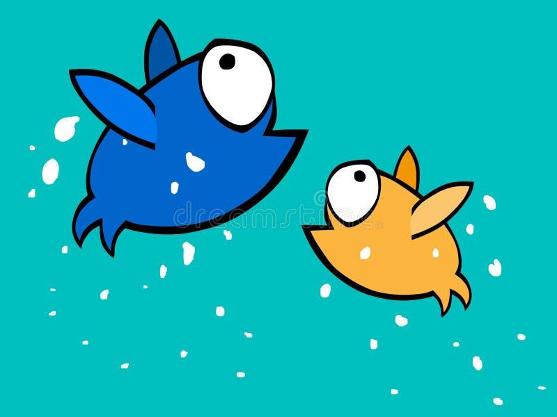 παφλασμός ψαριών διανυσματική απεικόνιση
