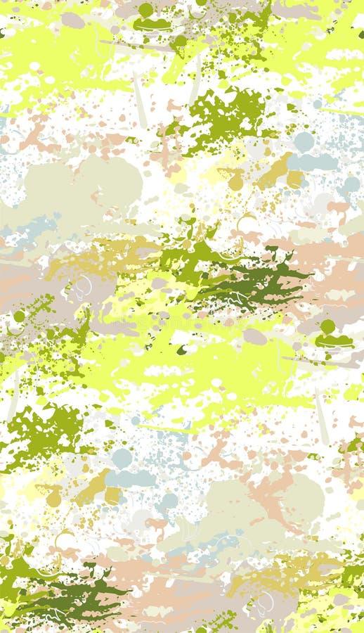 Παφλασμών πράσινο ροζ σχεδίων χρωμάτων άνευ ραφής απεικόνιση αποθεμάτων