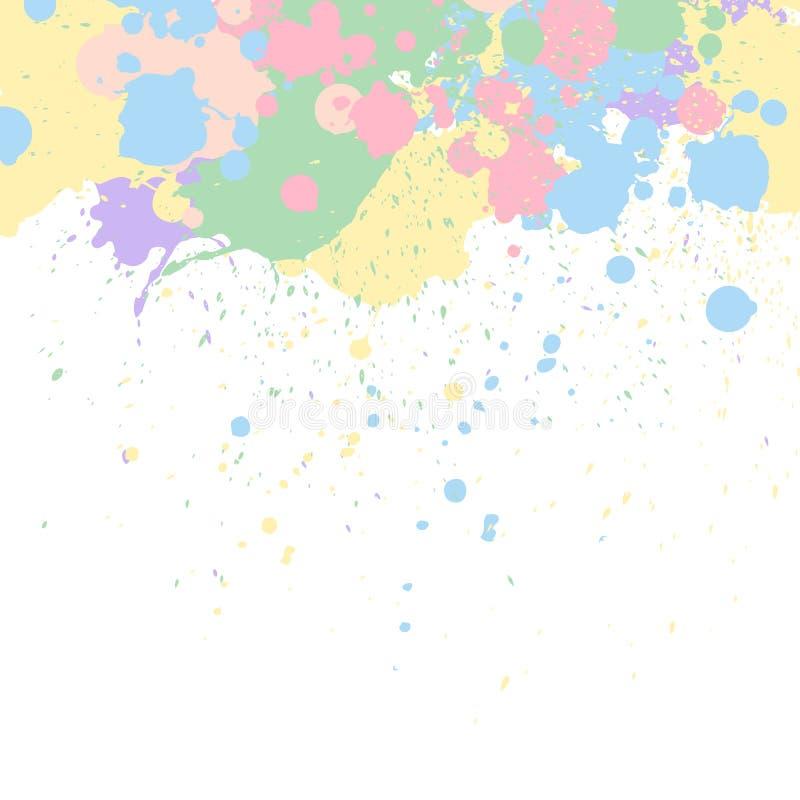 Παφλασμοί χρωμάτων κρητιδογραφιών απεικόνιση αποθεμάτων