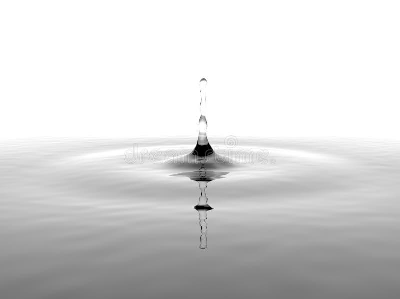 Παφλασμός νερού στο άσπρο υπόβαθρο στοκ φωτογραφίες