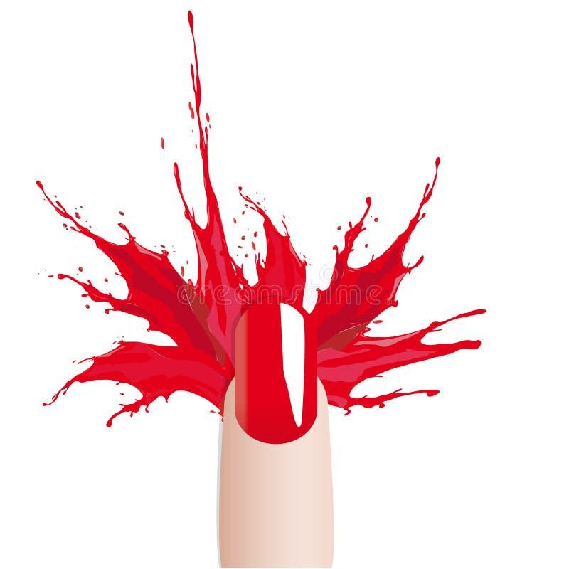 Παφλασμός στιλβωτικής ουσίας καρφιών χρωμάτων μόδας απεικόνιση αποθεμάτων