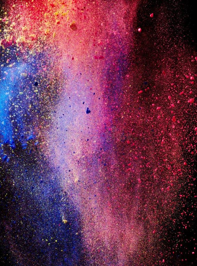 Παφλασμός της χρωματισμένης σκόνης στοκ εικόνα με δικαίωμα ελεύθερης χρήσης
