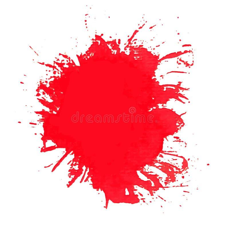 παφλασμός χρωμάτων Διάνυσμα των κτυπημάτων βουρτσών απεικόνιση αποθεμάτων