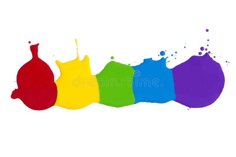 Παφλασμός χρωμάτων στοκ φωτογραφία