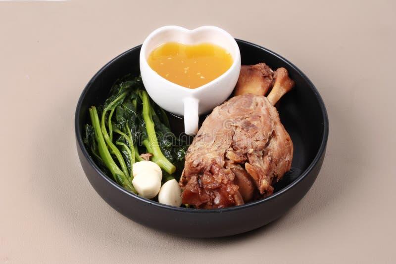 Παχιά έξω συνταγή του μαγειρευμένου χοιρινού κρέατος στοκ εικόνα με δικαίωμα ελεύθερης χρήσης
