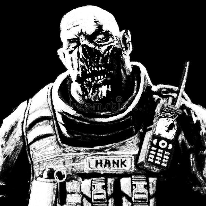 Παχιά εικόνα στρατιωτών zombie απεικόνιση αποθεμάτων
