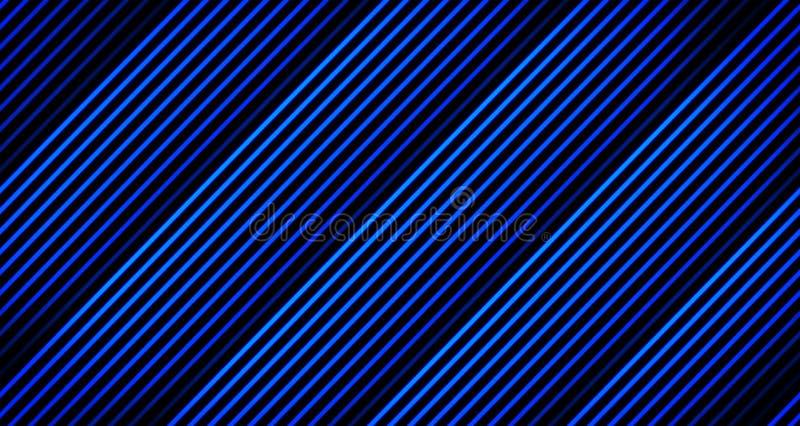 Παχιά ζωτικότητα γραμμών υποβάθρου που εξασθενίζει μακριά στους μπλε τόνους στο Μαύρο από 4k το πλαίσιο ζωτικότητας στοκ εικόνες