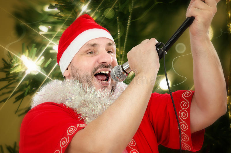 Παχιά κάλαντα ιμάντα Santa στοκ φωτογραφία με δικαίωμα ελεύθερης χρήσης