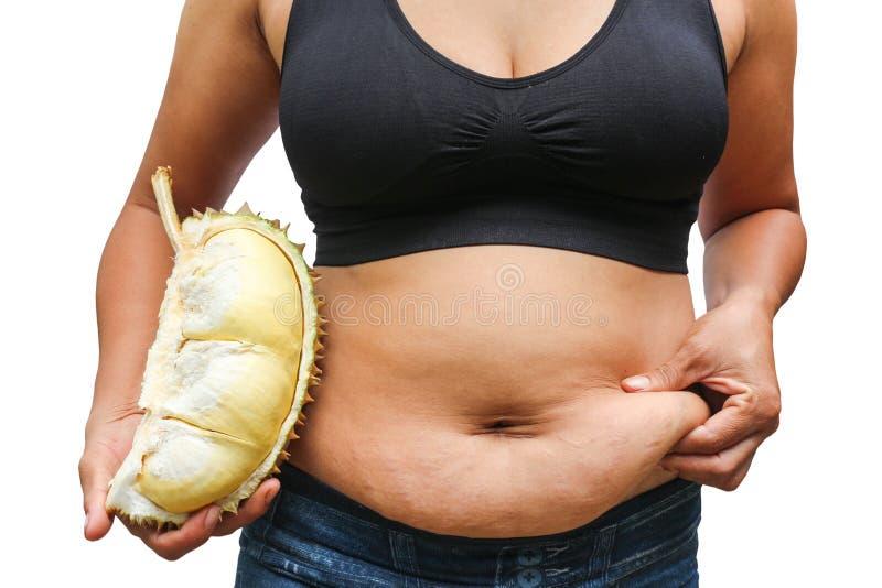 Παχιές γυναίκα και χοληστερόλη στοκ φωτογραφία