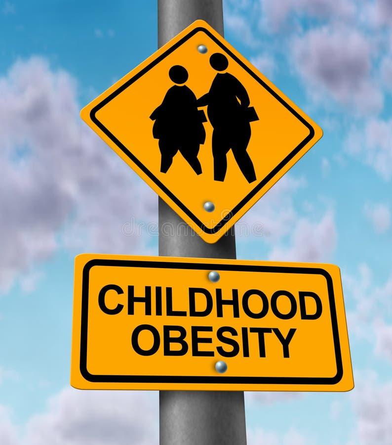 Παχυσαρκία παιδικής ηλικίας διανυσματική απεικόνιση