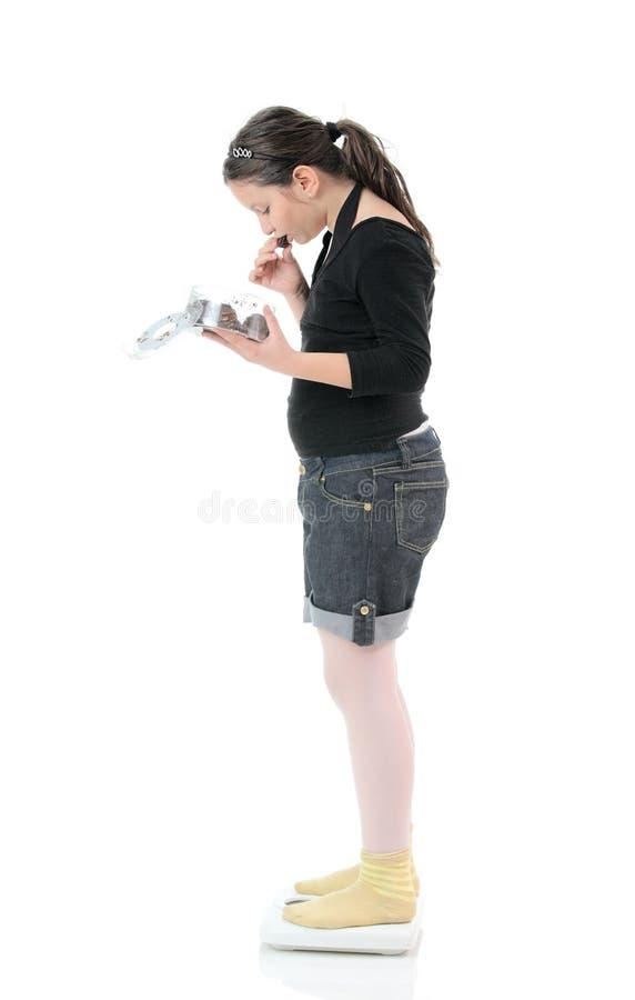 παχυσαρκία παιδιών στοκ εικόνες
