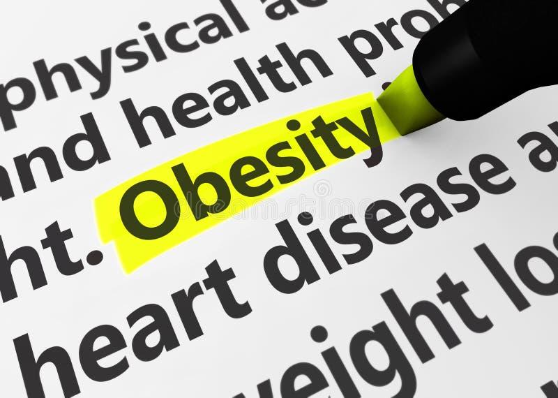 παχυσαρκία διανυσματική απεικόνιση
