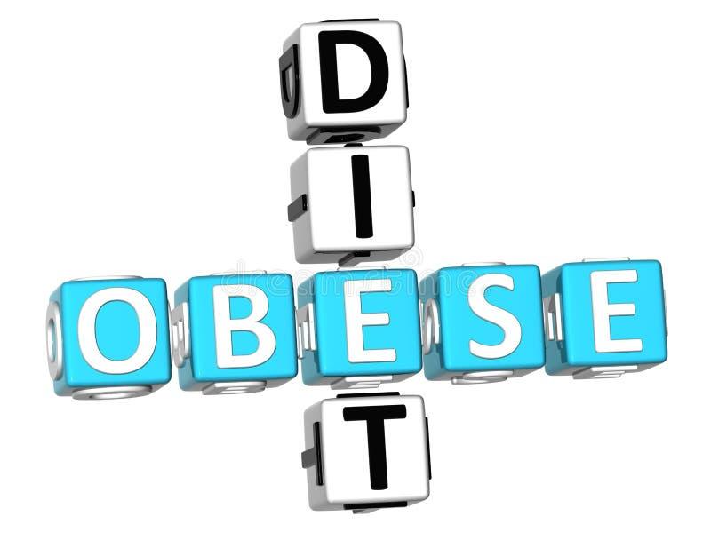Παχύσαρκο σταυρόλεξο διατροφής απεικόνιση αποθεμάτων