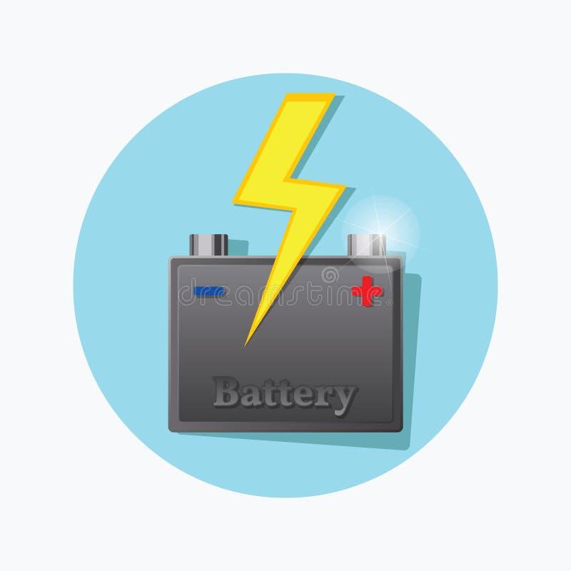 Παχύ εικονίδιο μπαταριών αποθήκευσης διάνυσμα απεικόνιση αποθεμάτων