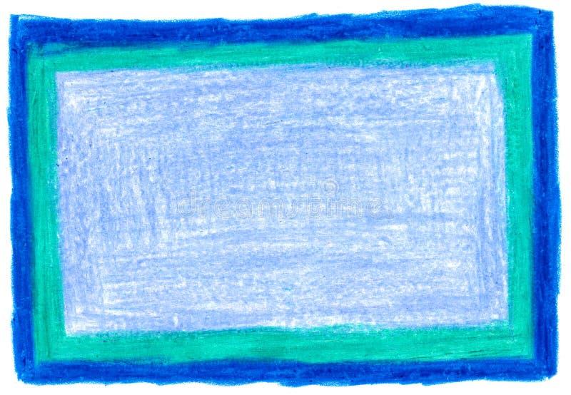 Παχύ μπλε υπόβαθρο κραγιονιών διανυσματική απεικόνιση