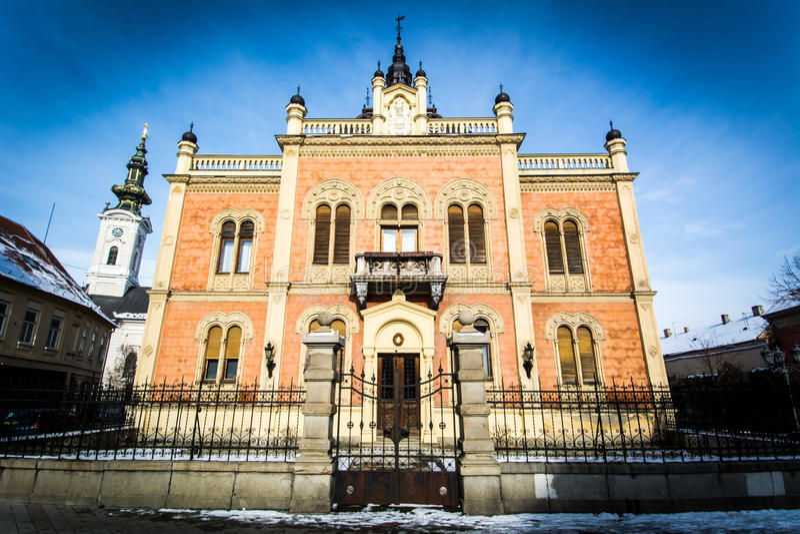 Παλάτι επισκόπου στο Νόβι Σαντ στοκ εικόνες με δικαίωμα ελεύθερης χρήσης