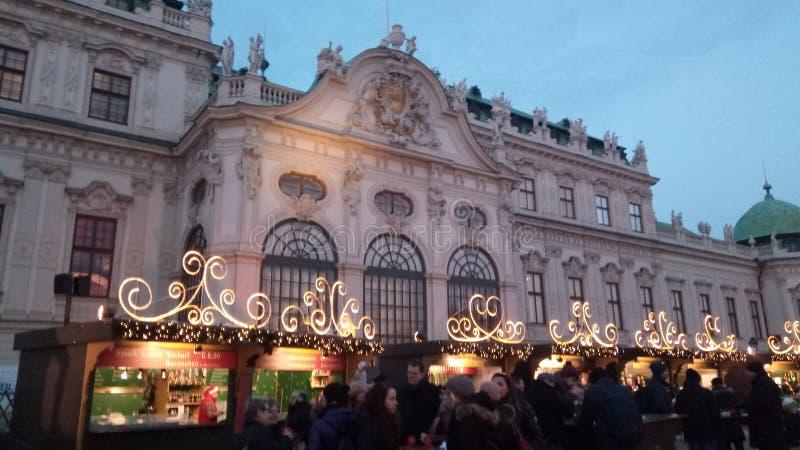 Παλάτι πανοραμικών πυργίσκων, Βιέννη στοκ εικόνα με δικαίωμα ελεύθερης χρήσης