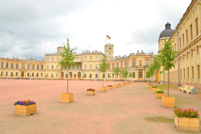 παλάτι Πετρούπολη Ρωσία ST gatchina στοκ εικόνες