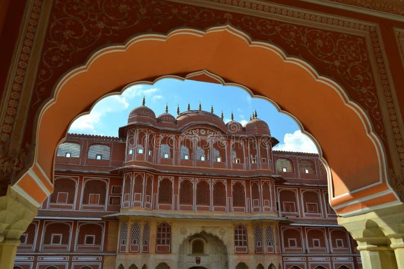 Παλάτι πόλεων στο Jaipur, Rajasthan, Ινδία στοκ εικόνες με δικαίωμα ελεύθερης χρήσης