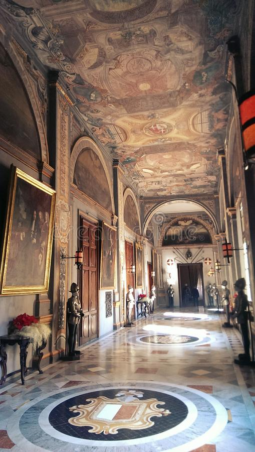 Παλάτι στη Μάλτα στοκ εικόνες