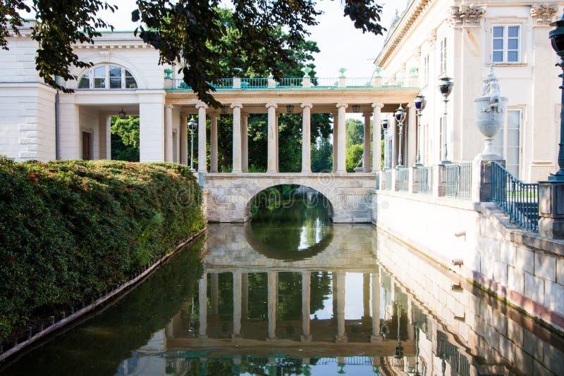 Παλάτι στο νερό, Βαρσοβία στοκ φωτογραφία με δικαίωμα ελεύθερης χρήσης