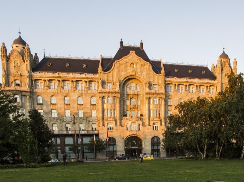 Παλάτι της Βουδαπέστης Ουγγαρία Ευρώπη gresham στοκ φωτογραφίες