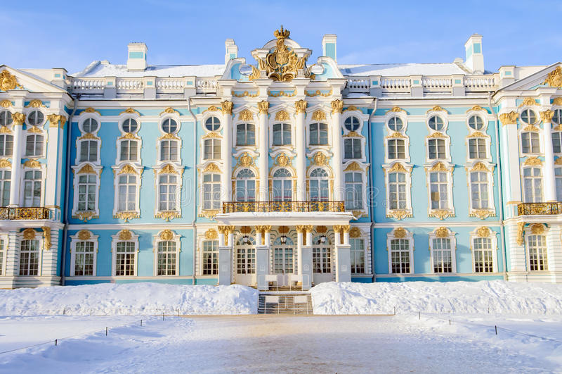 Παλάτι της Μεγάλης Αικατερίνης, Άγιος Πετρούπολη στοκ εικόνα με δικαίωμα ελεύθερης χρήσης