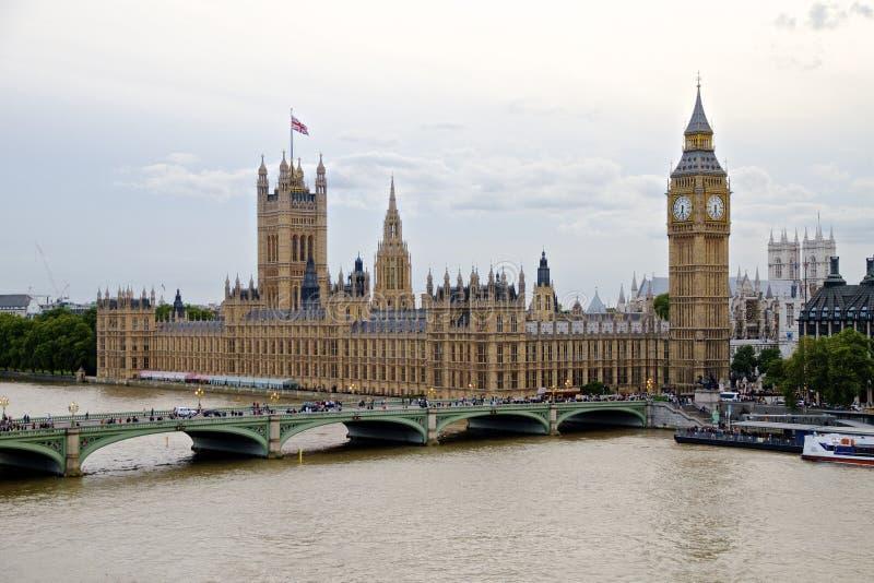 Παλάτι του Γουέστμινστερ - οι Βουλές του Κοινοβουλίου και Big Ben στοκ φωτογραφία