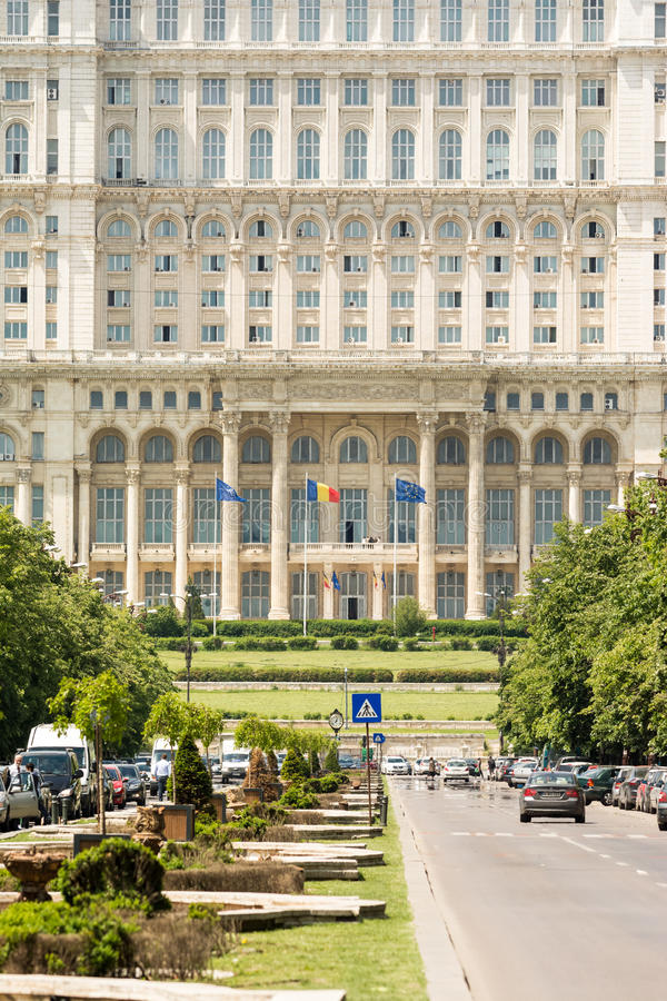Παλάτι του Κοινοβουλίου στο Βουκουρέστι στοκ εικόνα