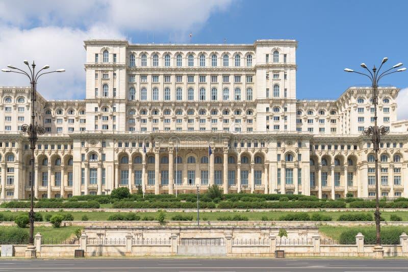 Παλάτι του Κοινοβουλίου (Casa Poporului) ή σπίτι των ανθρώπων στο Βουκουρέστι στοκ φωτογραφίες με δικαίωμα ελεύθερης χρήσης