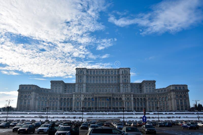 Παλάτι του Κοινοβουλίου Palatul Parlamentului DIN Ρουμανία στοκ φωτογραφία