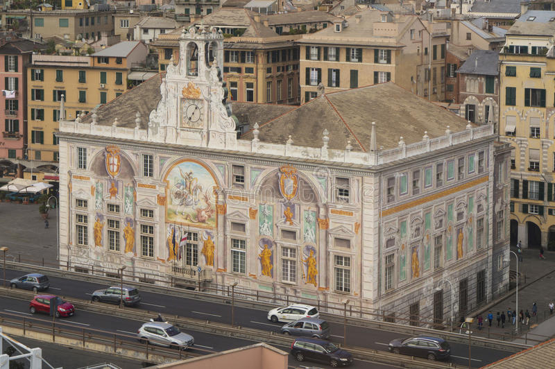 Παλάτι του ST George στη Γένοβα, Ιταλία στοκ εικόνα με δικαίωμα ελεύθερης χρήσης