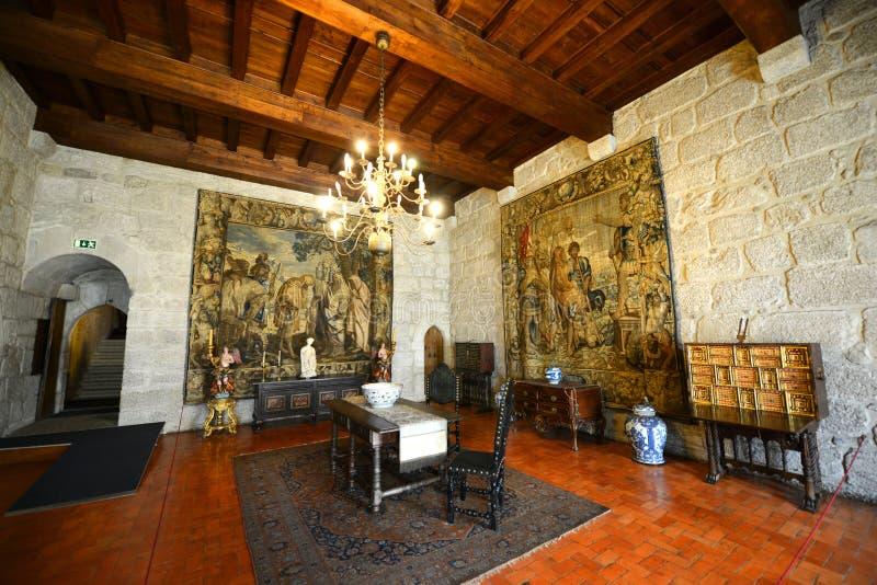 Παλάτι των δουκών Braganza, Γκιμαράες, Πορτογαλία στοκ φωτογραφίες