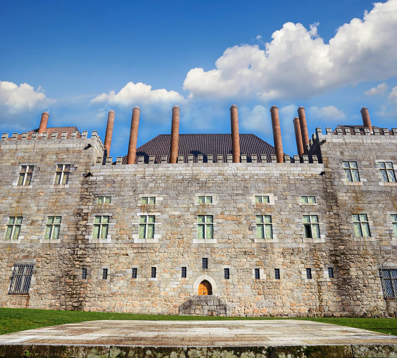 Παλάτι Duques de Braganca, Πορτογαλία στοκ εικόνες