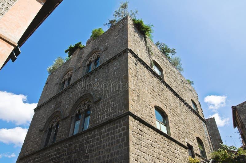 Παλάτι Gatti. Βιτέρμπο. Λάτσιο. Ιταλία. στοκ εικόνα
