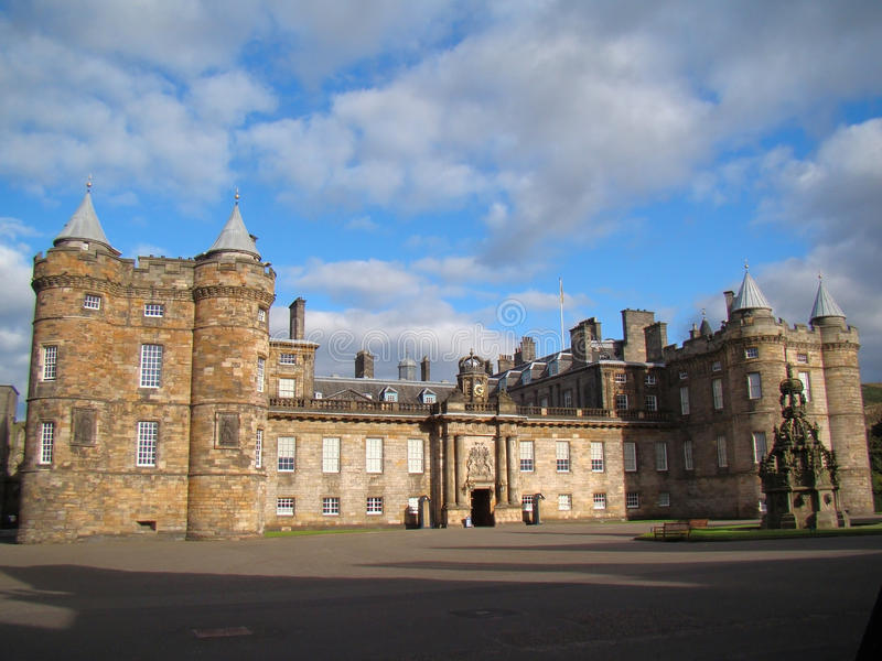 Παλάτι Holyrood στο Εδιμβούργο, Σκωτία στοκ εικόνες με δικαίωμα ελεύθερης χρήσης