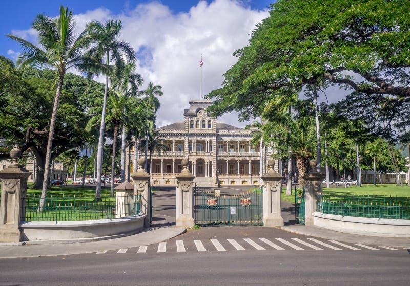 Παλάτι Iolani στη Χονολουλού Χαβάη στοκ εικόνες