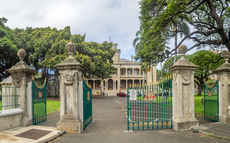 Παλάτι Iolani στη Χονολουλού Χαβάη στοκ φωτογραφία με δικαίωμα ελεύθερης χρήσης