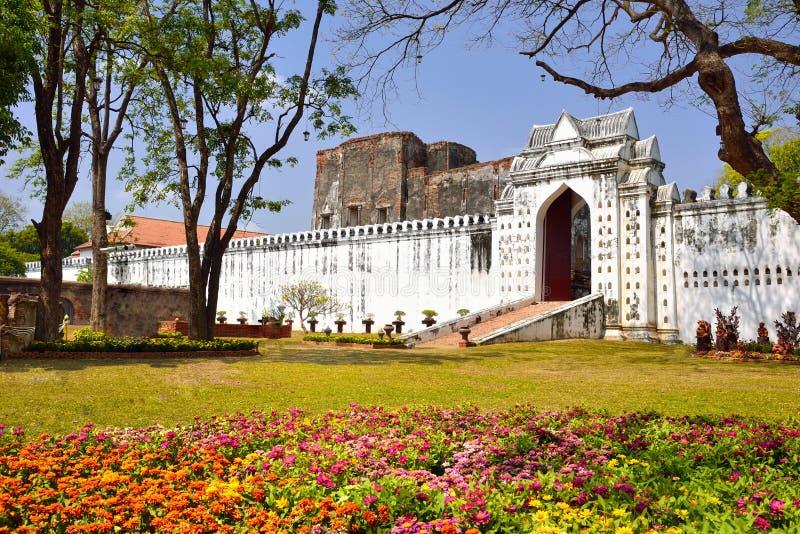 Παλάτι Narai ` s βασιλιάδων, διακινούμενη θέση στοκ εικόνες