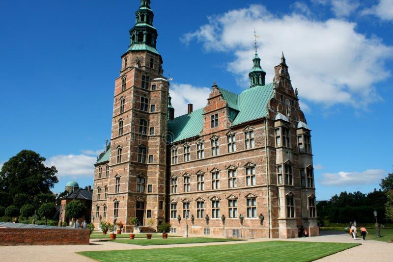 Παλάτι Rosenborg στην Κοπεγχάγη, Δανία Γλυπτό του λιονταριού πάλι στοκ εικόνες