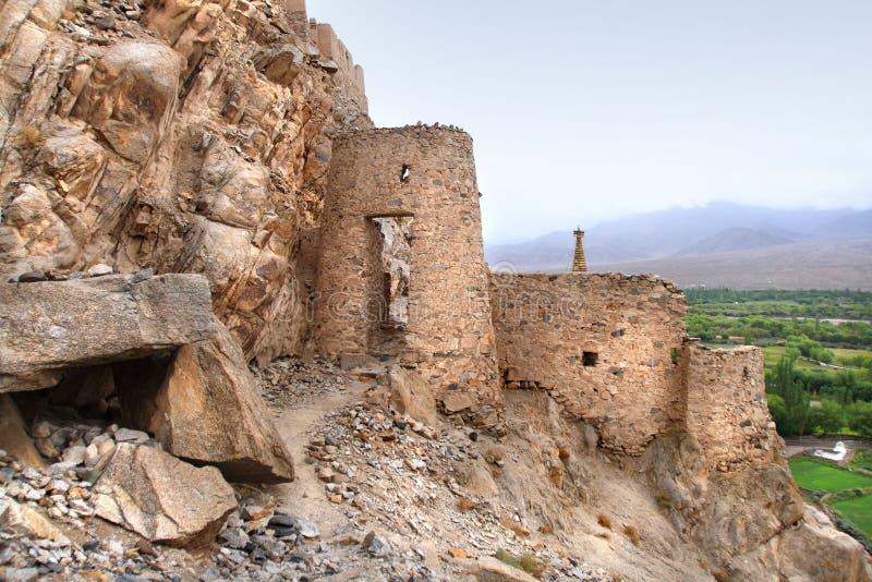 Παλάτι Shey σύνθετο σε Ladakh, Ινδία στοκ εικόνες