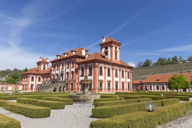 Παλάτι Troja στην ηλιόλουστη ημέρα, Πράγα, Δημοκρατία της Τσεχίας, Ευρώπη στοκ φωτογραφίες με δικαίωμα ελεύθερης χρήσης
