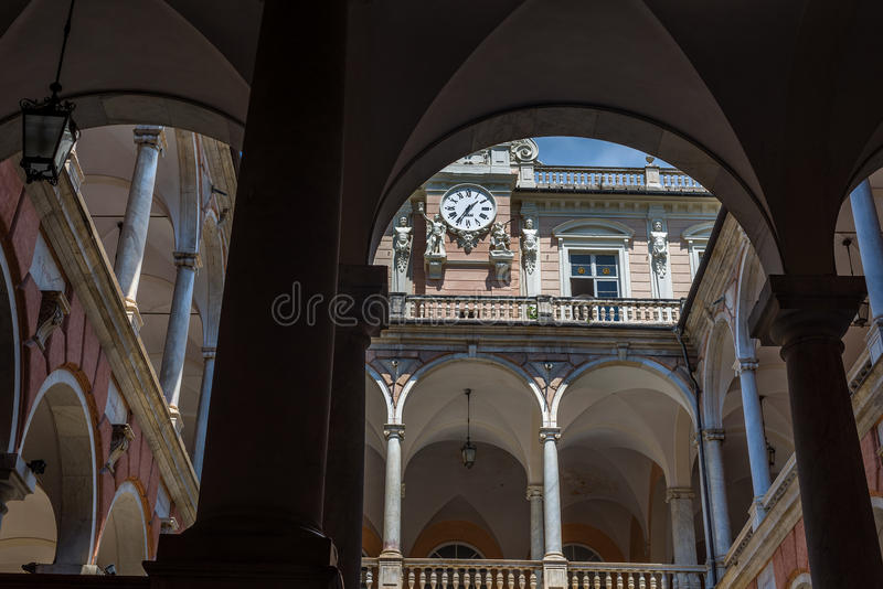 Παλάτι Tursi Doria Γένοβας Ιταλία Λιγυρία στοκ φωτογραφία