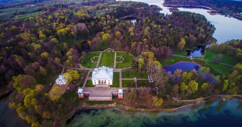Παλάτι Tyshkevich, εναέρια άποψη στοκ φωτογραφίες
