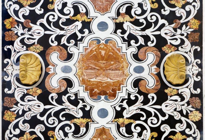 Παλέρμο - λεπτομέρεια από τη διακόσμηση μωσαϊκών στο chiesa del Gesu Λα εκκλησιών στοκ εικόνες