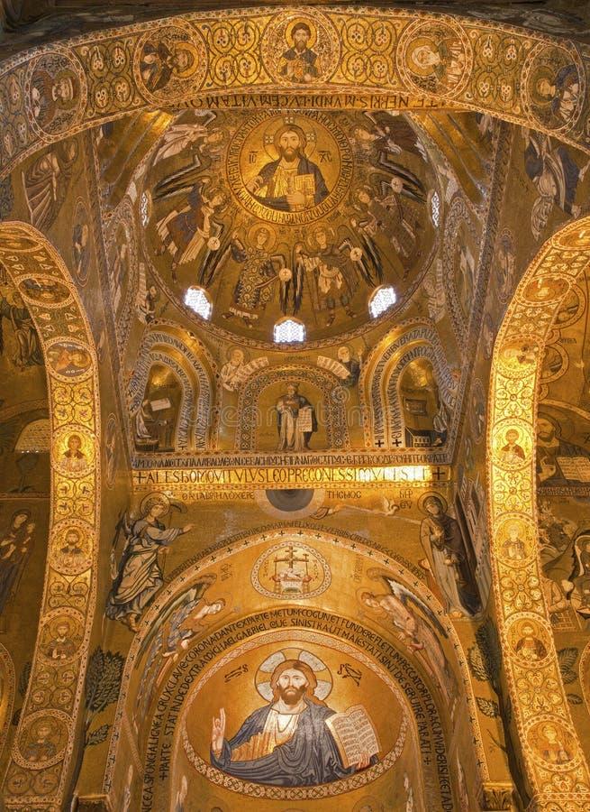 Παλέρμο - μωσαϊκό Cappella Palatina στοκ εικόνα