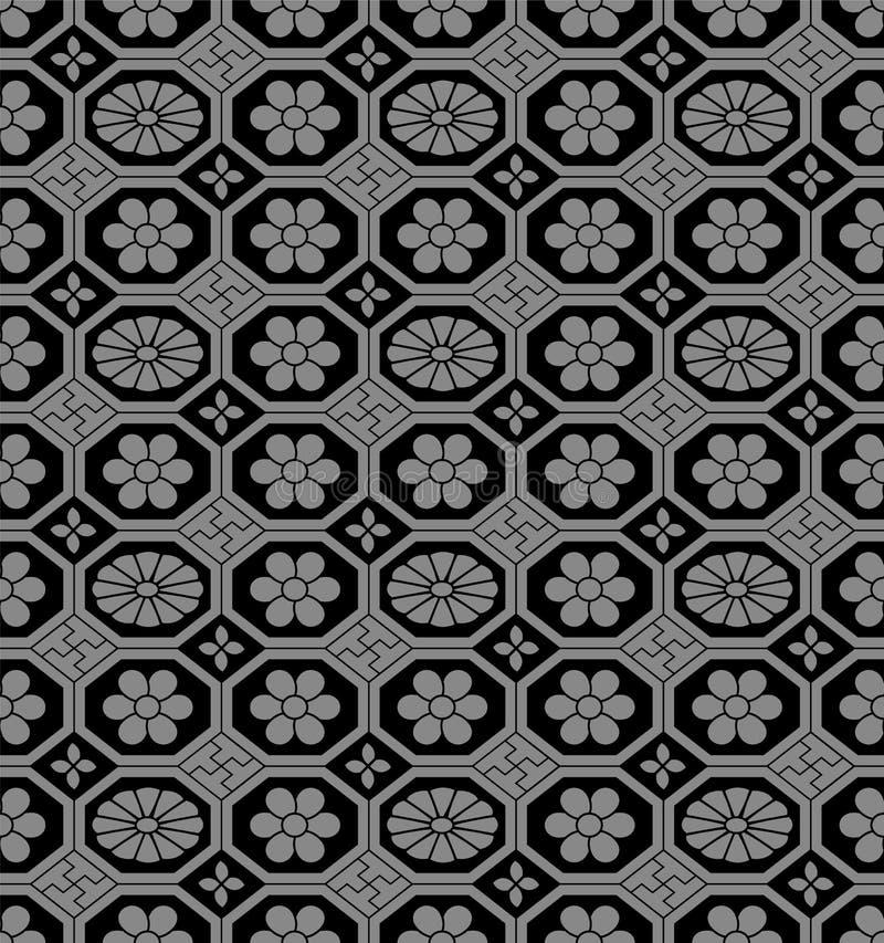 Παλαιά άνευ ραφής υποβάθρου αναδρομική οκταγώνων ροή πλαισίων ελέγχου διαγώνια ελεύθερη απεικόνιση δικαιώματος