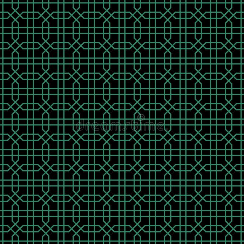 Παλαιά άνευ ραφής υποβάθρου γραμμή γεωμετρίας οκταγώνων διαγώνια απεικόνιση αποθεμάτων