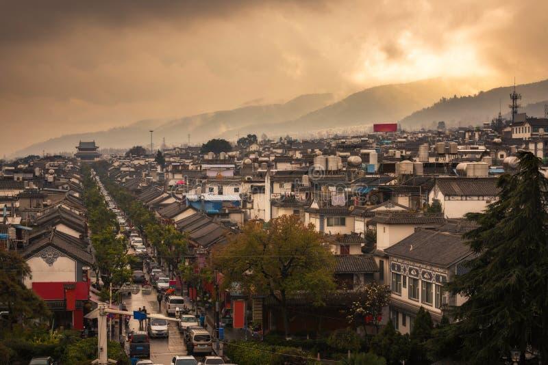 Παλαιά άποψη πόλης στεγών του Δαλιού στοκ φωτογραφίες