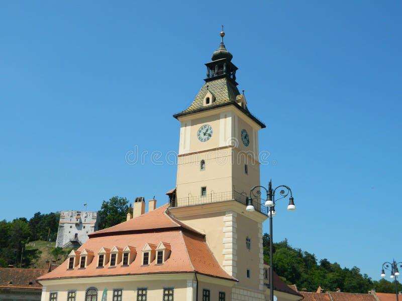 Παλαιά αίθουσα πόλεων Brasov, Ρουμανία στοκ εικόνες